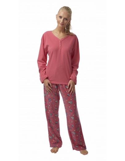 Ladies Fleece Robin Print Pyjama In05092 ae677f4b1