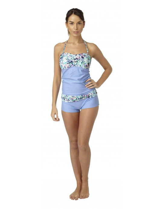 Twisted Tankini with short. TK2077 WS