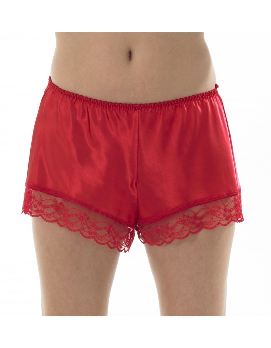 Ladies satin lace french knicker Ma08012